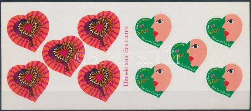 Valentin napi üdvözlőbélyegek bélyegfüzet, Valentine's day greeting card