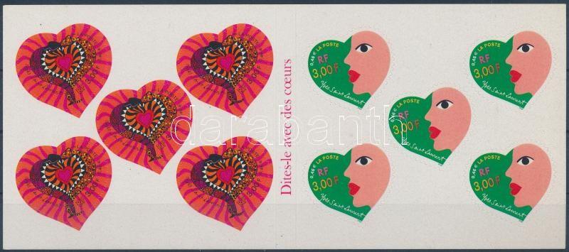 Valentine's day greeting card stamp-booklet, Valentin napi üdvözlőbélyegek bélyegfüzet