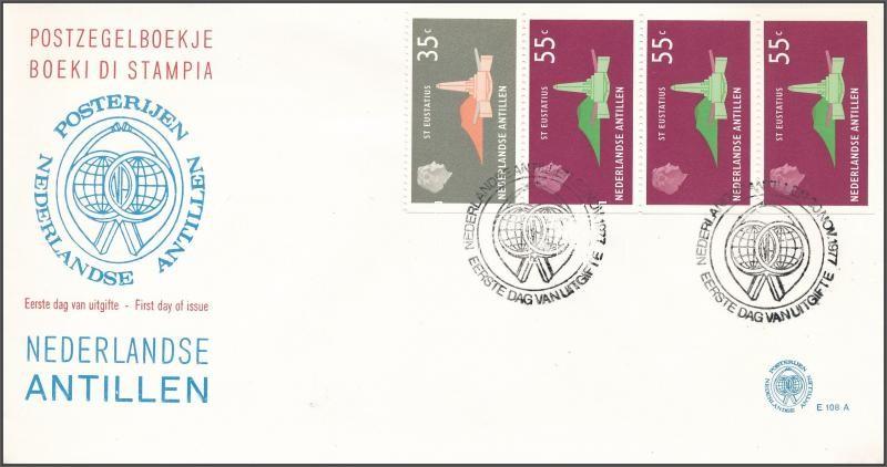 Definitive stamp-booklet sheet on FDC, Forgalmi: Szigetek bélyegfüzetlap FDC
