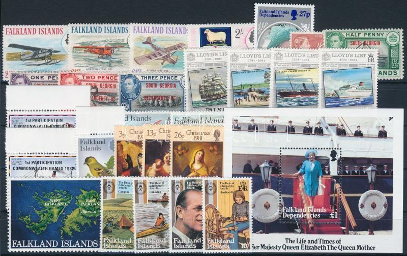 1969-1985 5 sets + 10 stamps + 1 block, 1969-1985 5 klf sor + 10 klf önálló érték + 1 blokk