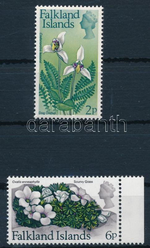 Flower 2 stamps, Virág 2 klf érték