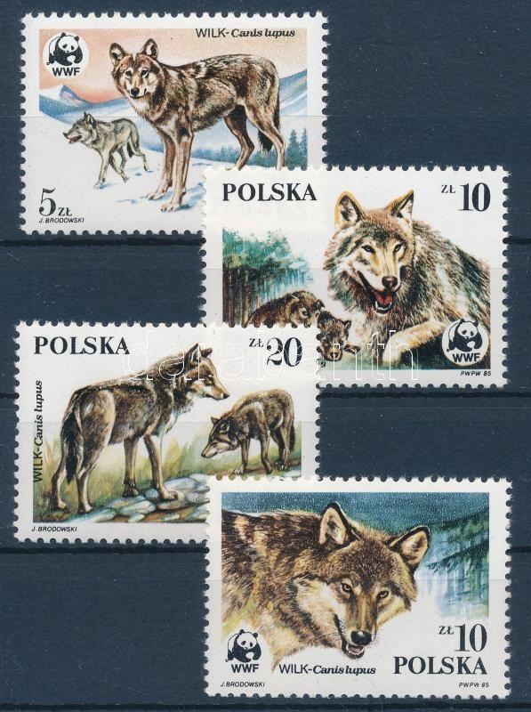 WWF: Farkasok sor + 4 FDC, WWF: Wolves set + 4 FDC