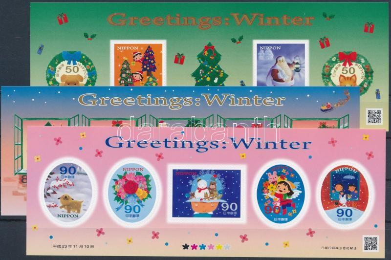 Üdvözlőbélyegek, tél self-adhesive mini sheet set, Üdvözlőbélyegek, tél öntapadós kisívsor