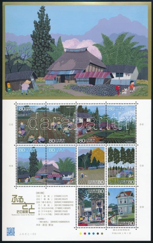 Home  (IX.),  Japan mini sheet, Otthonunk (IX.), Japán városok kisív