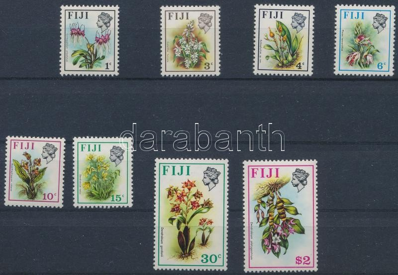 Definitive 8 stamps, Forgalmi sor 8 értéke