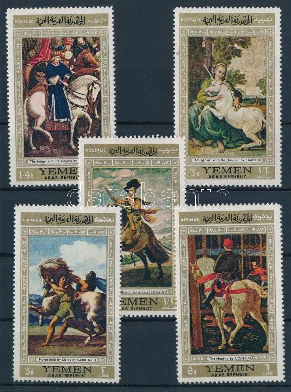 Paintings with horses (1st) set, Lovas festmények (I.) sor