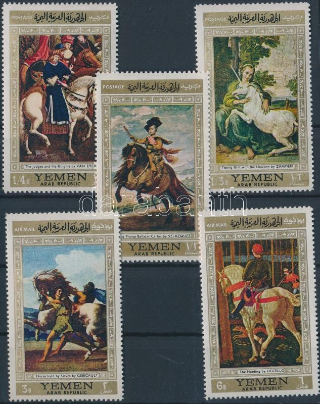 Horse paintings (I) set, Lovas festmények (I.) sor