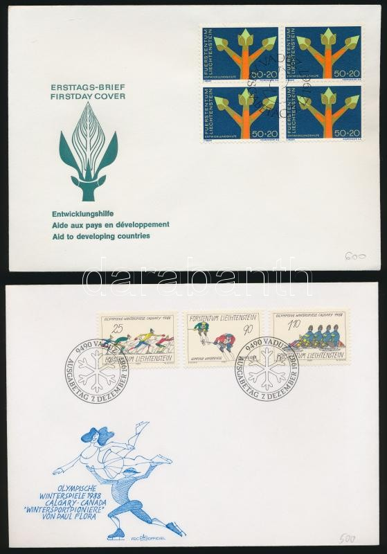 1967+1987 2 FDC, 1967+1987 2 klf FDC