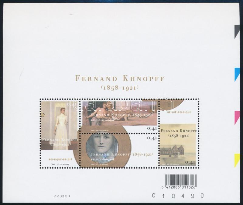 Fernand-Khnopff exhibition block, Fernand-Khnopff-kiállítás blokk