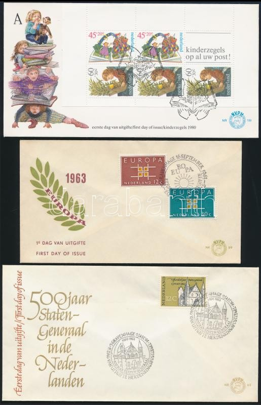 1963-1964 3 FDC, 1963-1964 3 klf FDC