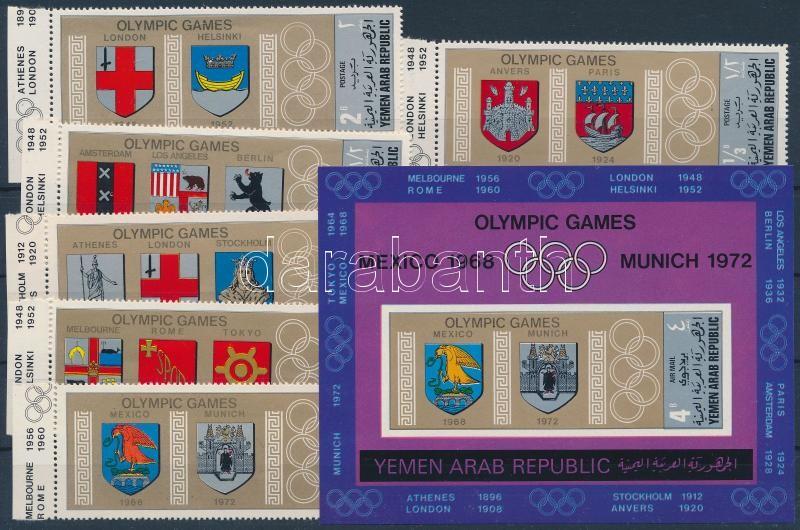 Olympics margin set + block, Olimpia ívszéli sor + blokk