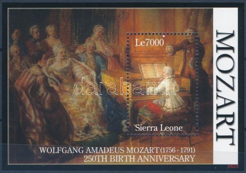 Wolfgang Amadeus Mozart block, 250 éve született Wolfgang Amadeus Mozart blokk