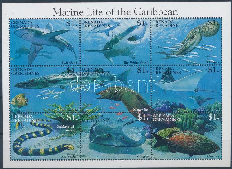 Marine life mini sheet, Tengeri élővilág kisív