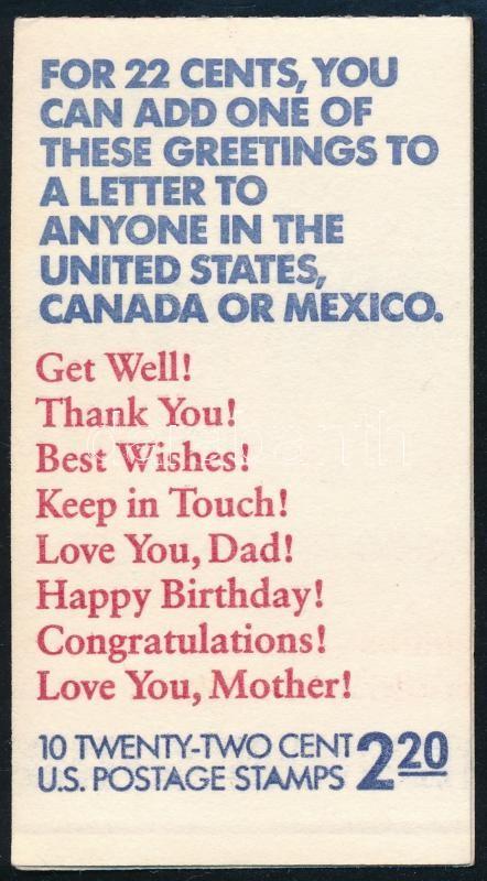 Greeting stamp booklet, Üdvözlő bélyegfüzet