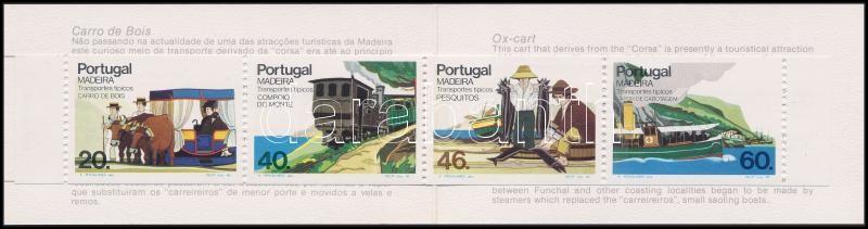 Madeira means of transport (II.) stamp booklet, Madeirai szállítóeszközök (II.) bélyegfüzet
