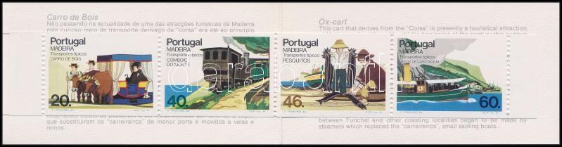 Madeirai szállítóeszközök (II.) bélyegfüzet, Madeira means of transport (II.) stamp booklet