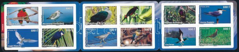 Birds self-adhesive stamp booklet, Madarak öntapadós bélyegfüzet