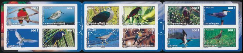 Birds self-ashesive stamp-booklet, Madarak öntapadós bélyegfüzet