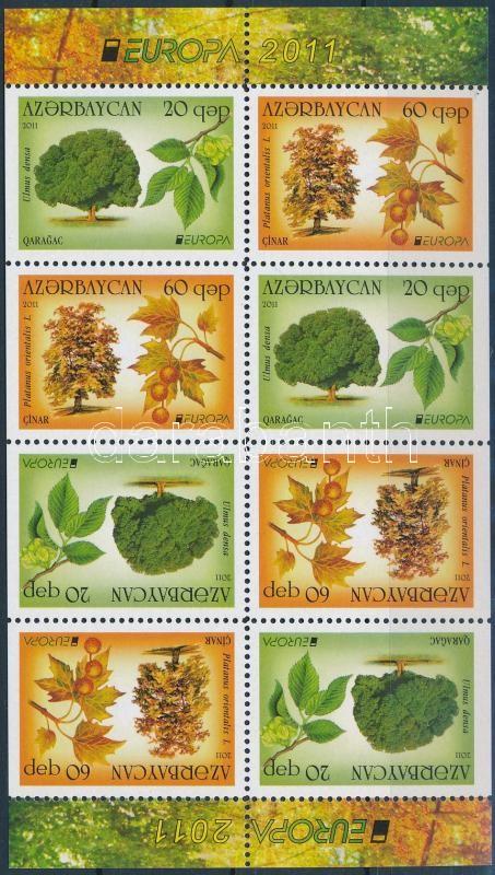 Europa CEPT Forest stamp-booklet sheet, Europa CEPT Erdők bélyegfüzet lap
