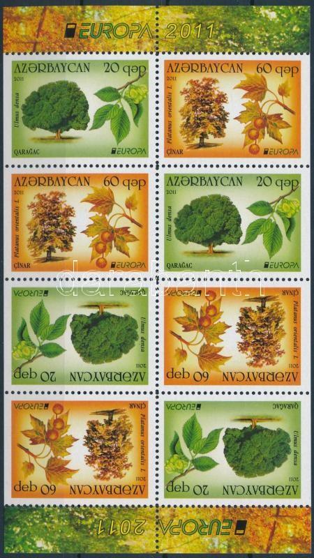 Europe CEPT Forests stamp-booklet sheet, Europa CEPT Erdők bélyegfüzet lap