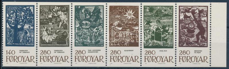 Tale Illustrations stamp sheet, Meseillusztrációk bélyegfüzetlapon