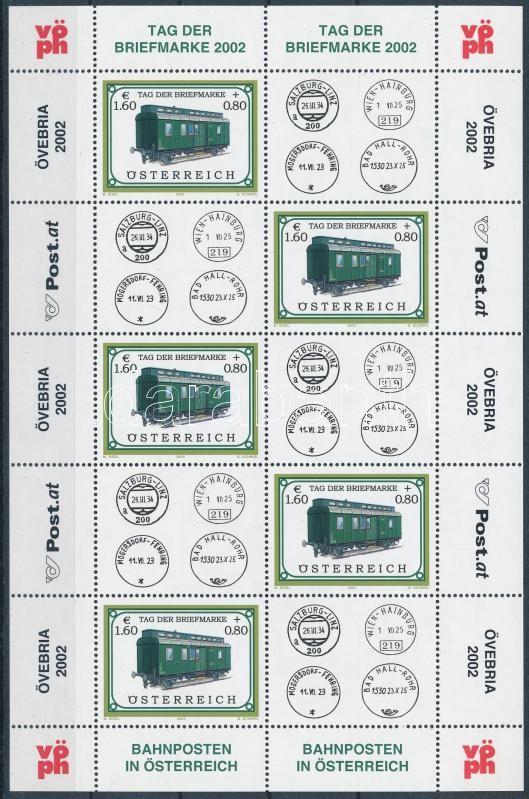 Stamp Day; Locomotive mini sheet, Bélyegnap; Mozdony kisív