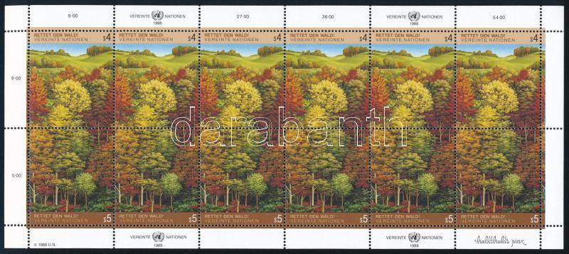 Forest minisheet, Erdő kisív