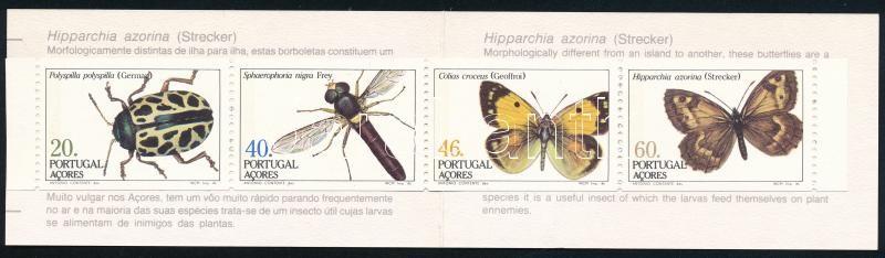 Insects (II.) stamp booklet, Rovarok (II.) bélyegfüzet