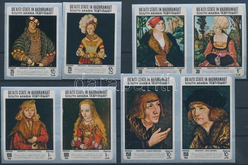 Lucas Cranach's paintings imperf. set, Lucas Cranach festményei vágott sor