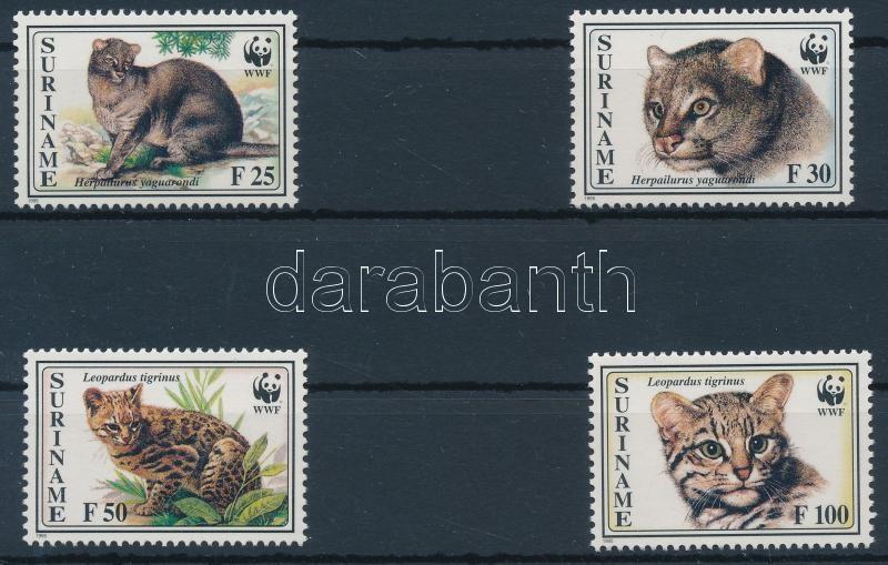 WWF Breeds of small cat 4 values + 4 FDC, WWF: Kisméretű macskafajták 4 érték + 4 FDC