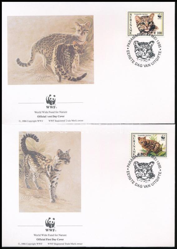 WWF Small breeds of cat 4 values + 4 FDC, WWF: Kisméretű macskafajták 4 érték + 4 FDC