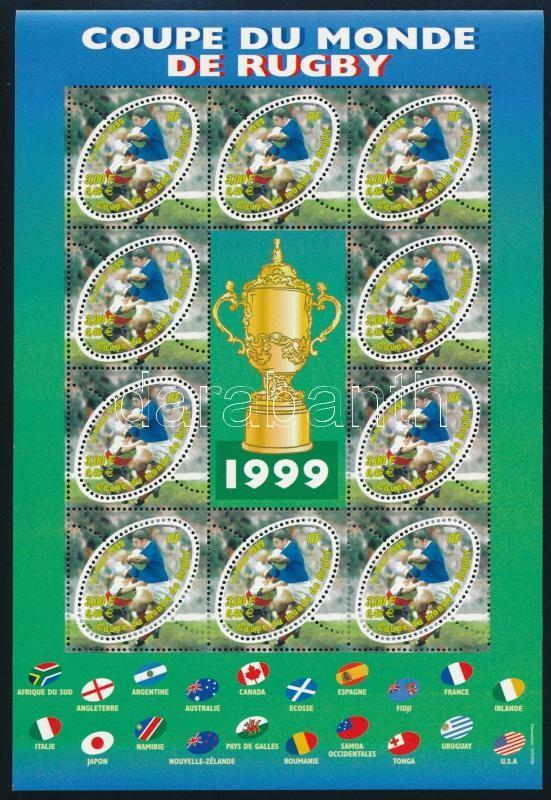 Rugby World Cup minisheet, Rögbi világbajnokság kisív