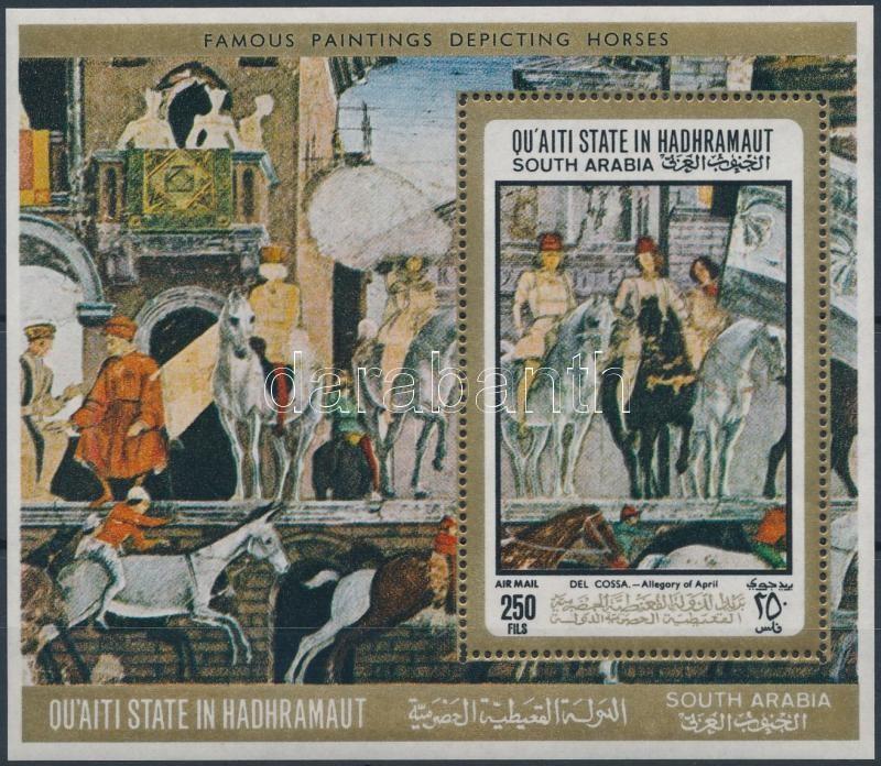 Horse painting block, Lovas festmények blokk