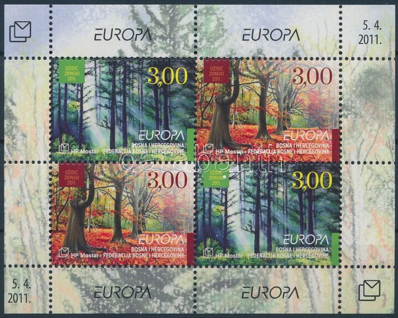 Europa CEPT Forest block, Europa CEPT Az Erdő blokk