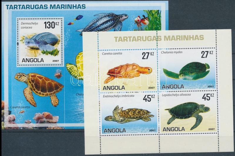 Turtles mini sheet + block, Teknős békák kisív + blokk