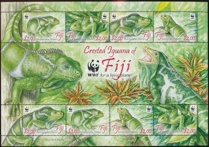 WWF Leguan mini sheet, WWF: Leguán kisív