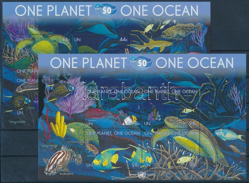 50 years Intergovernmental Oceanographic Commission block set, Óceán, 50 éves a Nemzetközi Óceanográfiai Bizottság blokksor