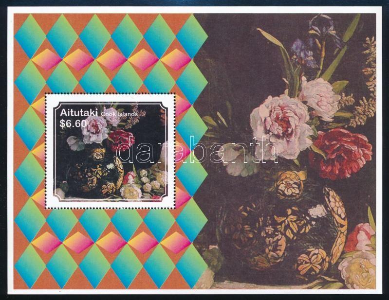 Peonies minisheet in booklet + block, Pünkösdi rózsák dísztokban kisív + blokk