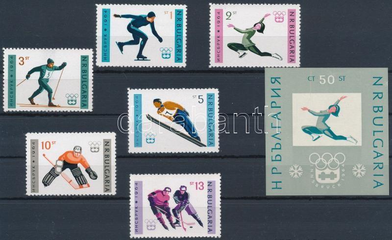 Olimpic games of Innsbruck set + block, Innsbruck-i olimpia sor + blokk