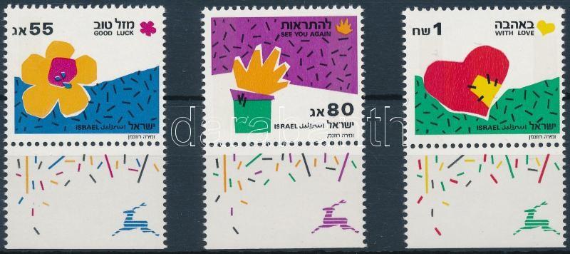 Greetings stamps margin set, Üdvözlőbélyegek ívszéli sor