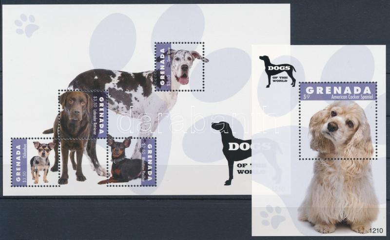 Dogs mini sheet + block, Kutyák kisív + blokk