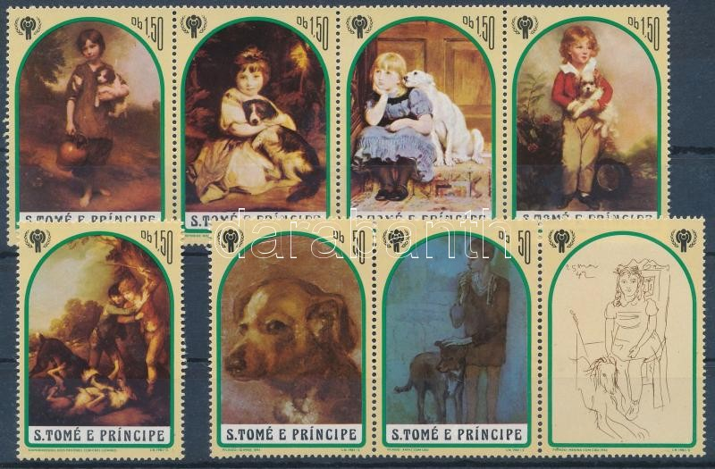 International children's year: dog paintings, Nemzetközi gyermekév: kutyafestmények