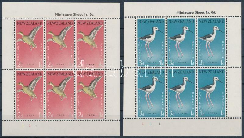 Health: Birds (I.) minisheet set, Egészség: Madarak (I). kisívsor