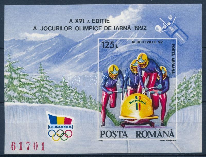 Winter olympics imperforate block, Téli olimpia vágott blokk