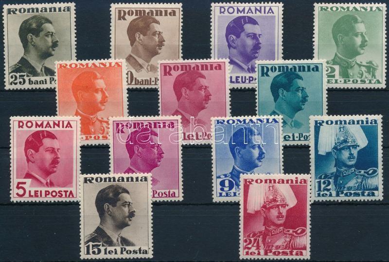 1935-1940 Charles II. set, 1935-1940 II. Károly sor