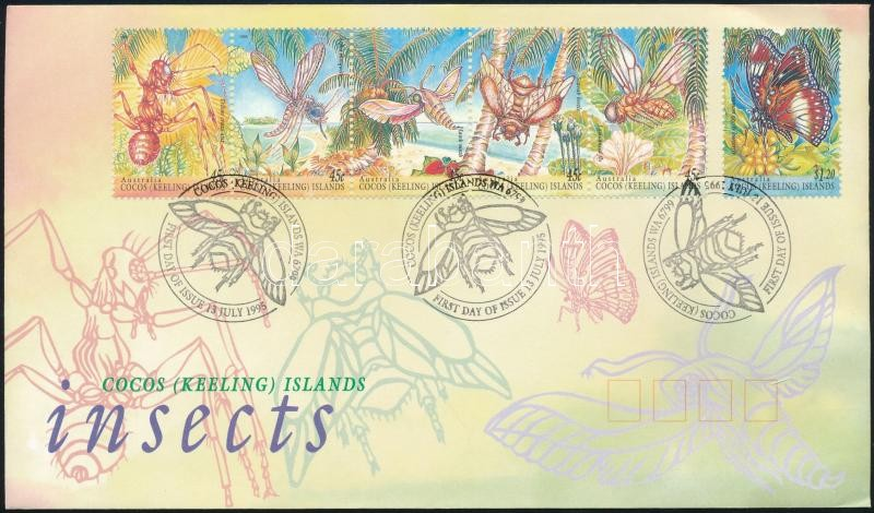 Insects set FDC, Rovarok sor FDC-n