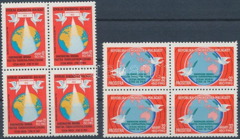 Indian Ocean set block of 4, Indiai-óceán sor négyestömbökben