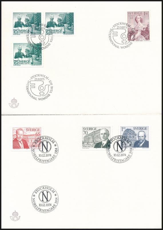 1974-1975 5 FDC, 1974-1975 5 klf FDC