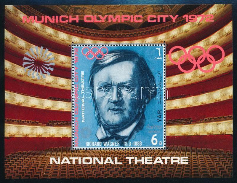 Munich Olympics; Opera minisheet + block, Müncheni olimpia; Opera kisív + blokk