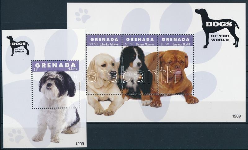 Kutyák kisív  + blokk, Dogs minisheet + block